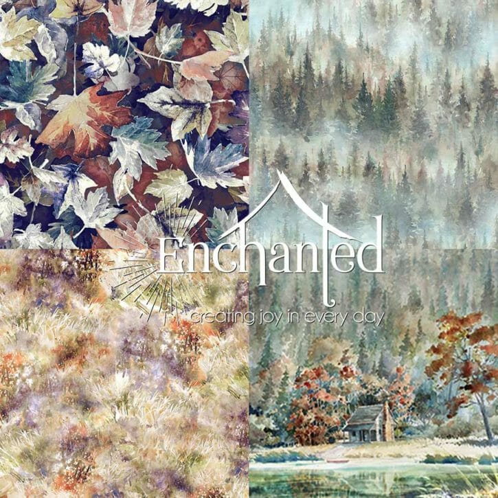 Woodlands whisper fabric collection icon
